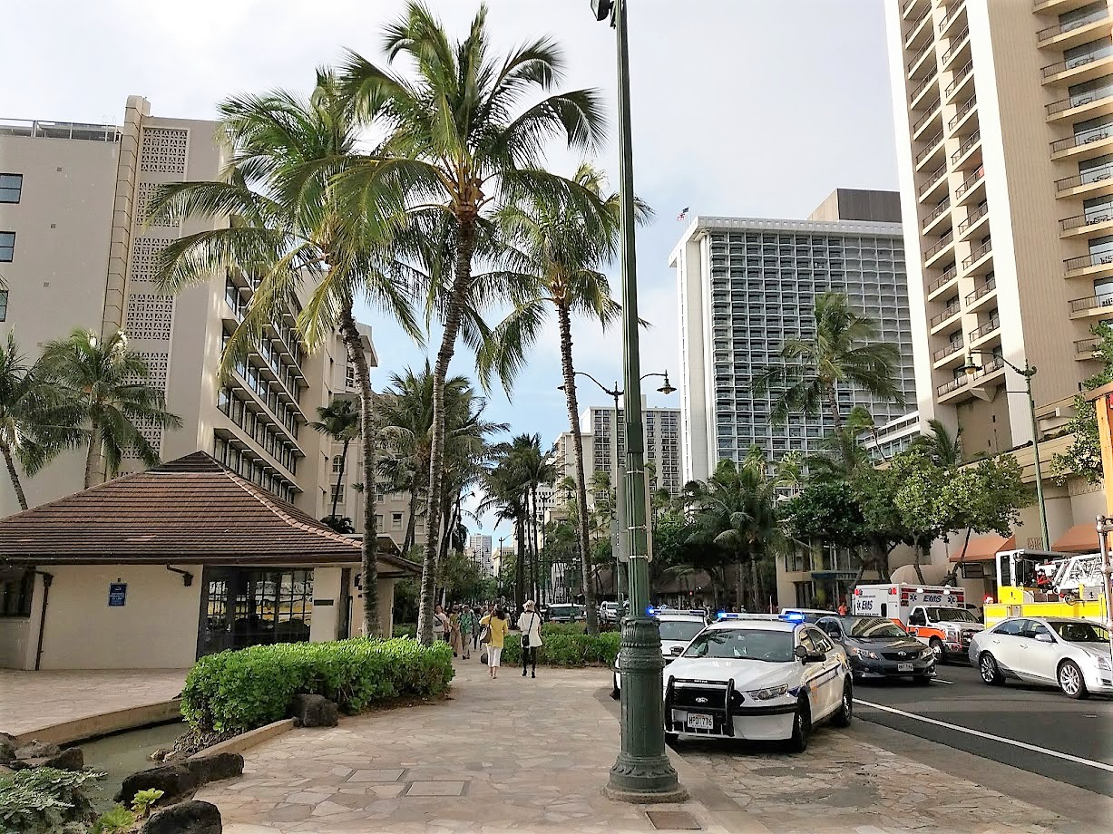 The police station in Waikiki