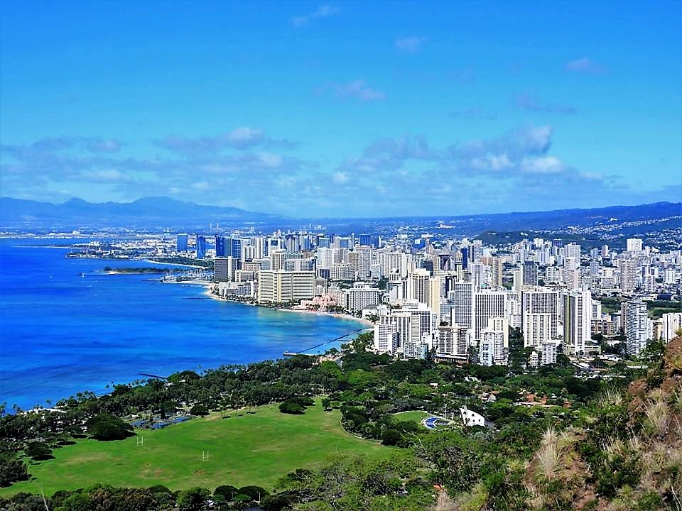 View from Diamond Head Crater Trail