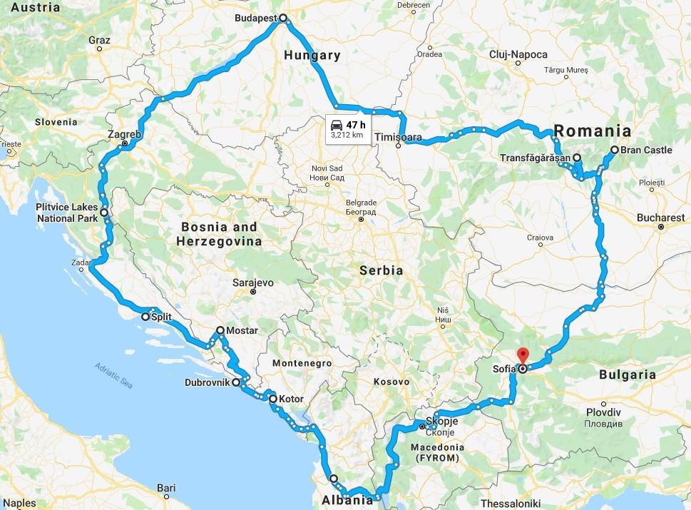 Road Trip Across South Eastern Europe: Bulgaria, Romania, Hungary, Bosnia and Herzegovina, Croatia, Montenegro, Albania, and Macedonia