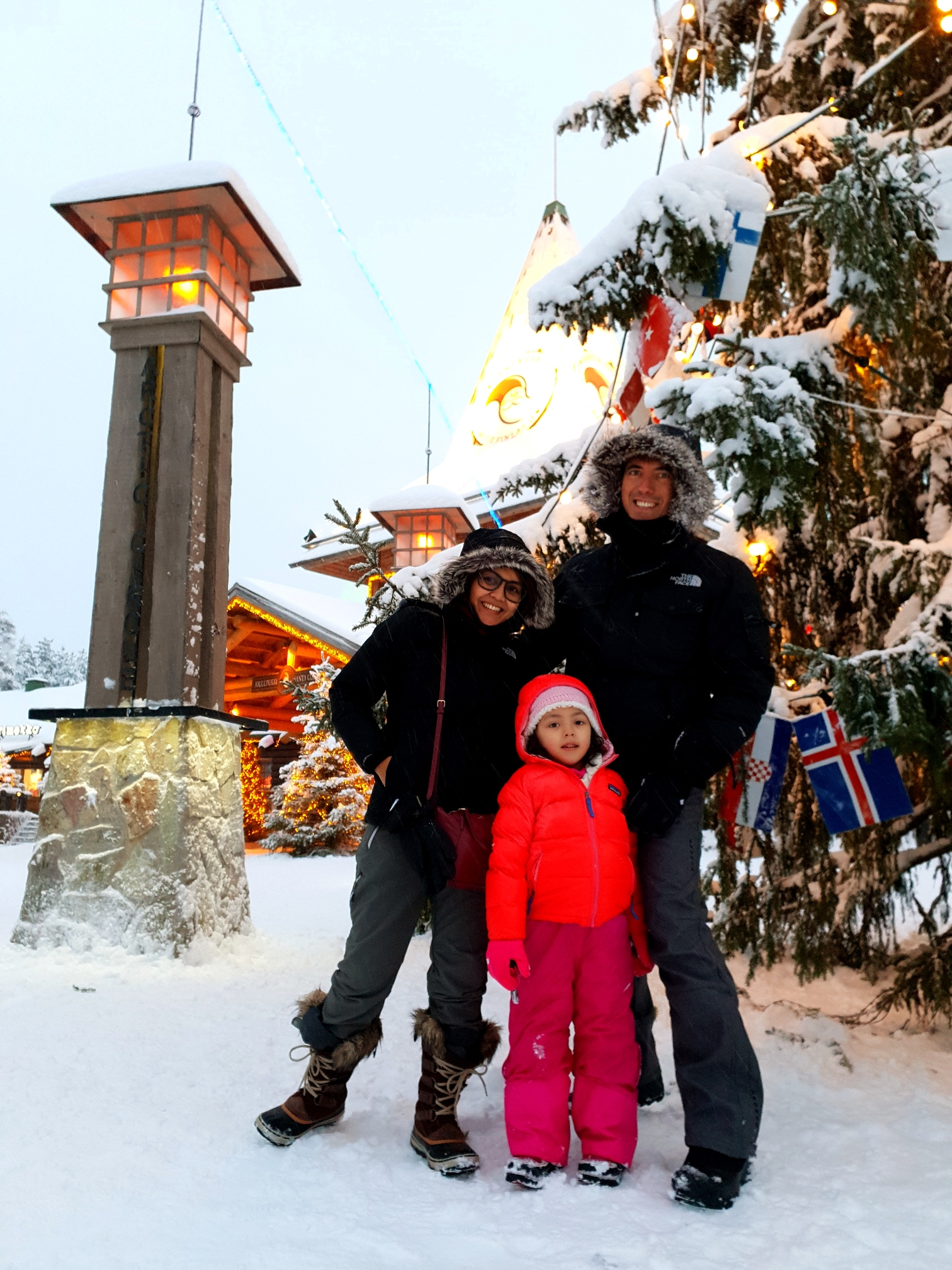Lara at the Arctic Circle in Rovaniemi, Lapland Finland