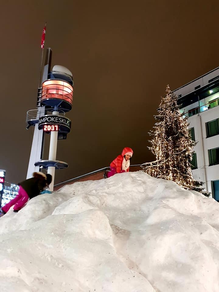 Lordi's Square in Downtown Rovaniemi, Lapland Finland