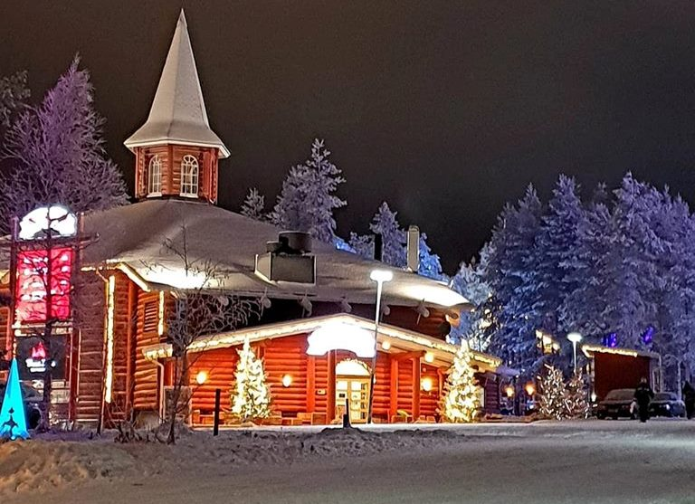 Santa Claus Holiday Village in Rovaniemi, Lapland Finland