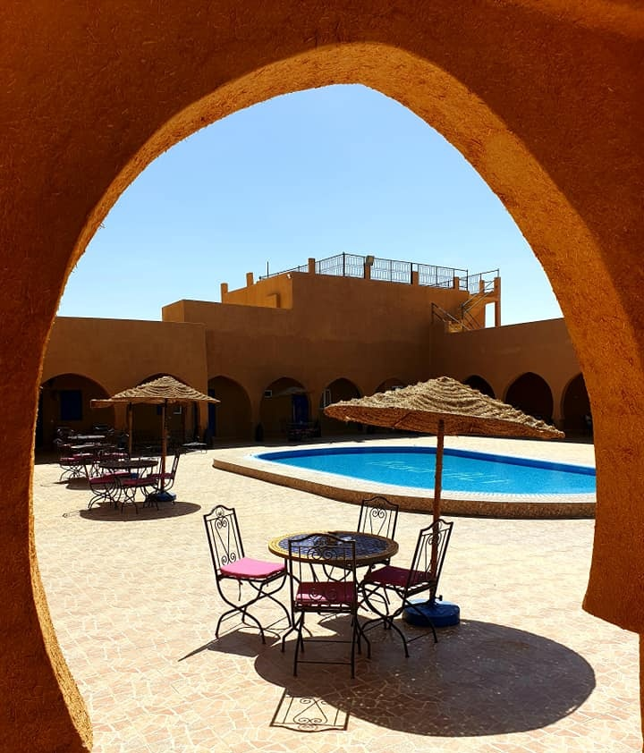 The beautiful Hotel Ali in Merzouga
