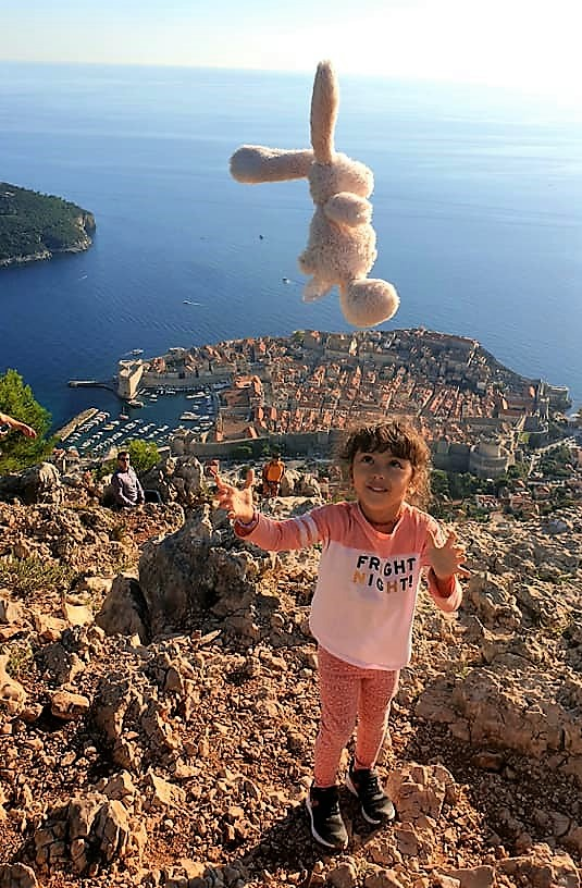 Lara at the top of Mount Srđ
