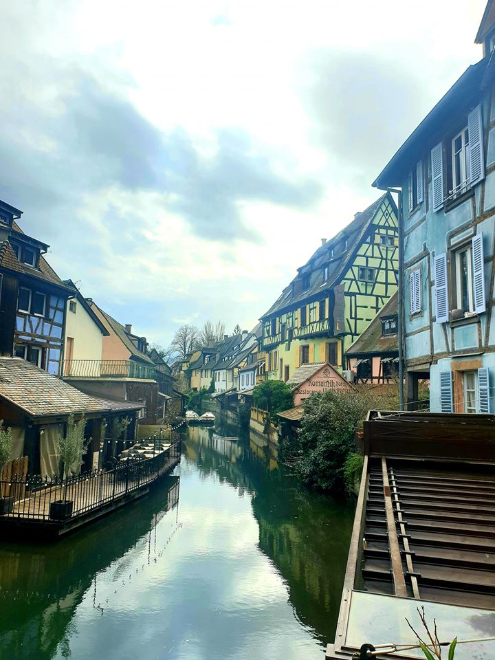 Center of Colmar and the Lauch river