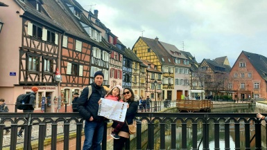 Lara The Explorer and family at Colmar