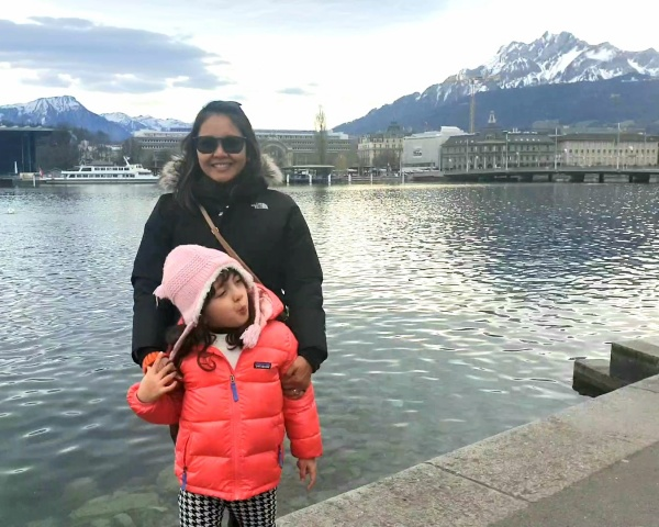 Lara The Explorer and mom in Lucerne