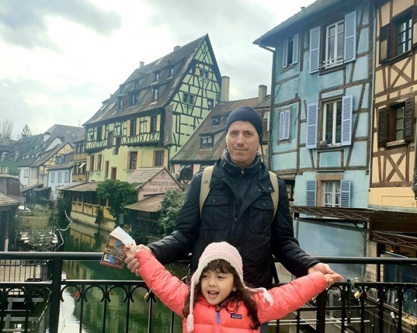 Lara and dad at Colmar