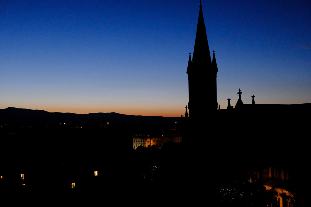 Mulhouse at the sunset