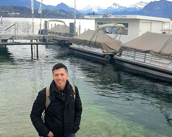 My dad in Zurich