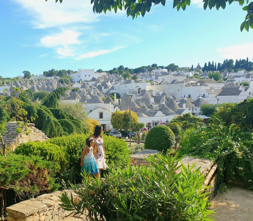 A wonderful view of Alberobello