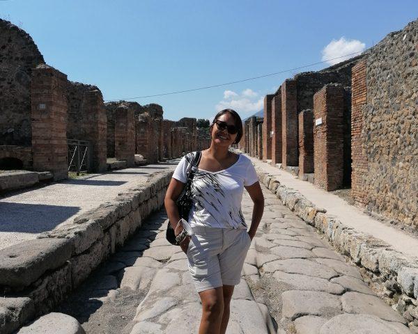 Mom at Pompei
