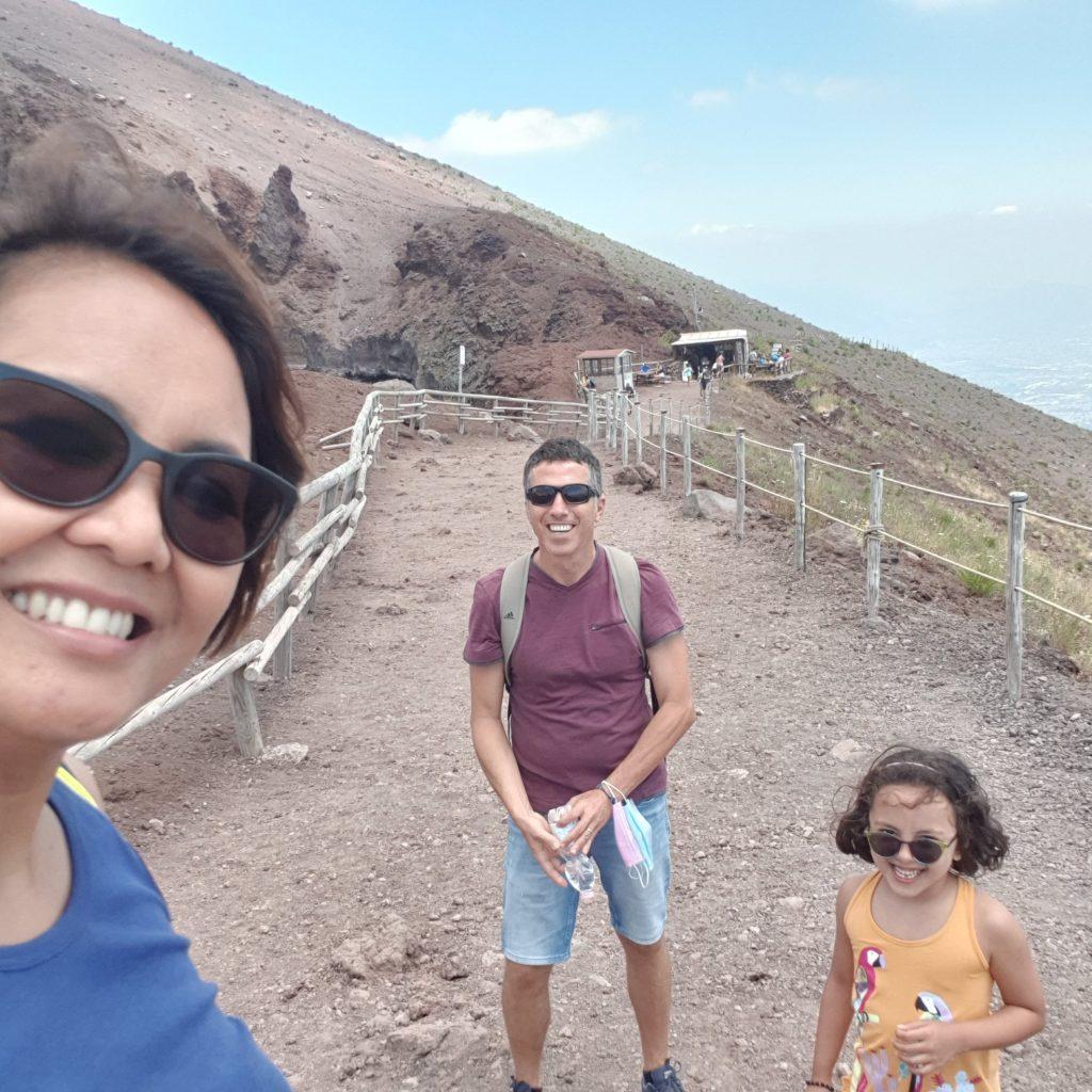 On top of the Vesuvius